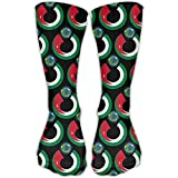 Jordan Flag Eat The Earth Casual Socks Crew Socks Crazy Socks Soft Breathable For Sports Athletic Running
