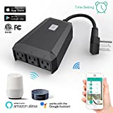 Smart Wifi Plug Mini Outlet Works with Alexa, 1 in 3 out Wireless Timer Switch IP44 Waterproof Intelligent Socket for Google Home Voice Control & APP Control
