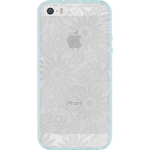 (Incipio Cell Phone Case for Apple iPhone 5/5S/SE - Retail Packaging - Bearded Daisy/Silver)