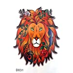 "lion king 6""X4"" temporary tattoo stickers"