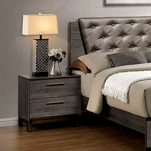 Manvel antique gray finish 6 piece bedroom set for Antique grey bedroom furniture