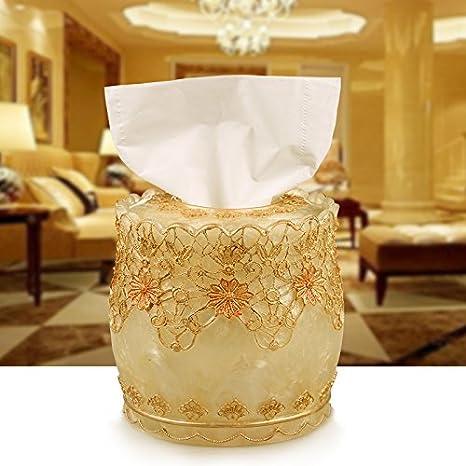 LGK&FA Resina Salón Caja de toallas de papel WC Puntilla Caja de papel toalla de papel