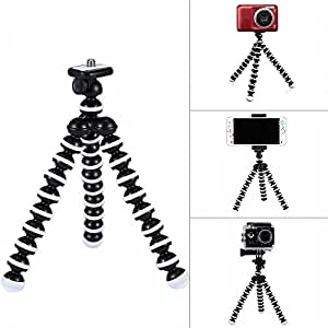 G-raphy Flexible Octopus Tripod Portable Holder Stand for DSLR Digital Cameras Smartphones Video Recorders Mirrorless Cameras (Small)
