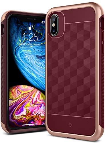 Caseology Parallax for iPhone Xs Case (2018) - Award Winning Design - Burgundy