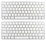 Apple Wireless Magic Keyboard 2 MLA22LL/A - Silver, 2 Pack (Certified Refurbished)