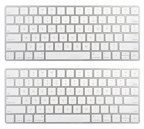 Apple Wireless Magic Keyboard 2 MLA22LL/A - Silver, 2 Pack (Certified Refurbished) by Apple (Image #1)