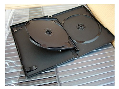 Naber Triple Dvd Cases Multiple Dvd Case 14Mm Pack Of 5. Pack Of 10. Pack Of 20 Pack Of 50 Pack Of 100 (Pack Of 50) by NABER