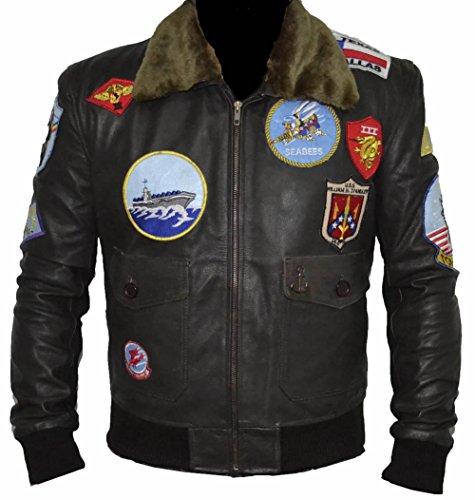 Classyak Top Real Leather Jacket, Xs-5xl (5XL) Black