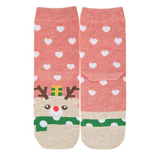 Happypop Women Ladies Girl Cute Socks Cartoon Animal Funny Novelty Christmas Cotton Casual Crew Socks Valentines Gifts for Her