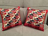 Pair of custom made Andy Warhol signed fine silk Campbell Soup pillows