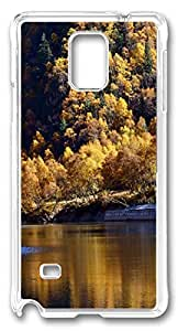 Beautiful Mountains and Rivers DIY Hard Shell Transparent Best Designed Samsung Galaxy Note 4 Case