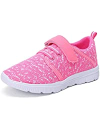 Kids Lightweight Breathable Running Sneakers Easy Walk Sport Casual Shoes for Boys Girls