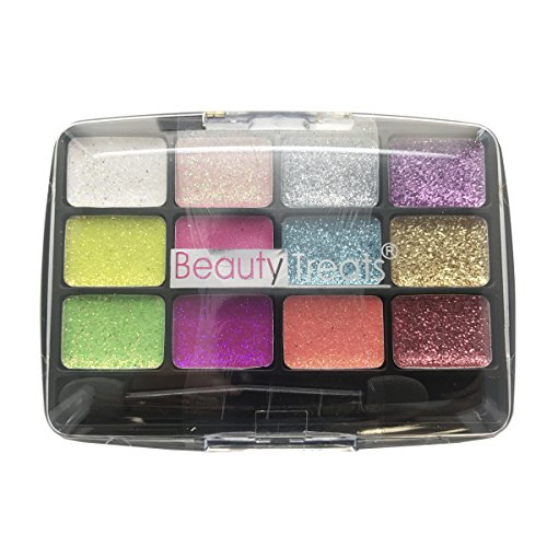 BEAUTY TREATS 12 Colors Glitter Palette - Confetti