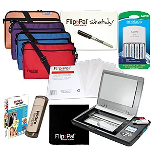 Flip-Pal Pro Bundle: With SD to USB adapter and 4GB SDHC card. StoryScans talking images and EasyStitch automatic stitching software included on SD card. Ideal for professionals and frequent users. by Flip-Pal