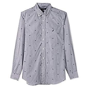 Nautica Shirts For Men, Grey XXL