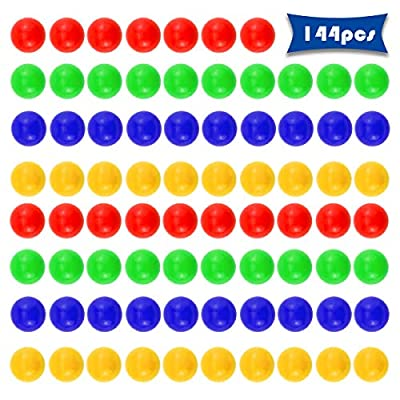 Wpxmer 144 Pcs Colored Game Replacement Marbles, New Plastic Hippo Game Balls: Toys & Games