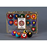 Crown Games Poker Pool Balls