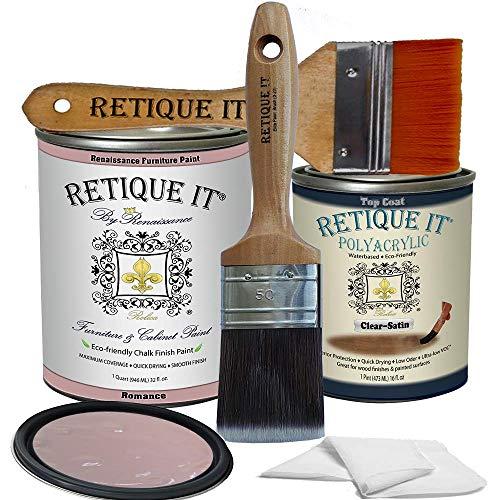 Retique It Chalk Furniture Paint by Renaissance DIY, Poly Kit, 52 Romance, 32 Ounces