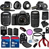 Canon 7D Mark II Camera+ 18-55mm IS STM Lens + 75-300mm III Zoom + XIT 3Pc Filter Kit + XIT Wide Angle Lens + XIT Telephoto Lens +24pc Accessory Kit - International Version