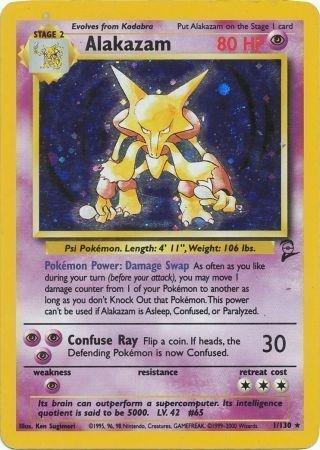 Alakazam Pokemon Card - Pokemon - Alakazam (1) - Base Set 2 - Holo