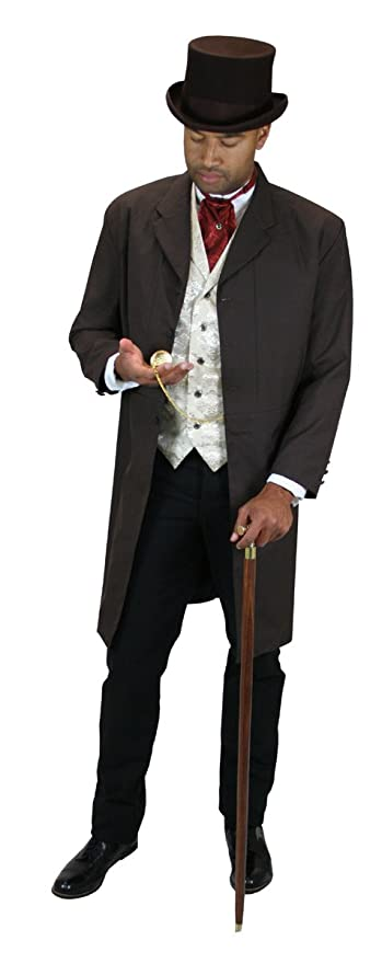 Edwardian Men's Fashion & Clothing  Callahan Frock Coat $159.95 AT vintagedancer.com