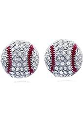 Sports Ball Post Stud Earrings Jewelry