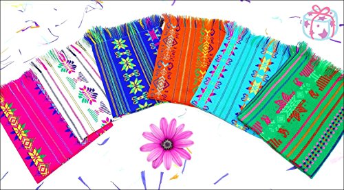 Mexican Napkins, Cinco De Mayo Party Decorations, Assorted Colors, Fiesta Decor, Woven Napkins, Boho Chic Linens, Hippie Decor, Tribal Kitchen, Gift for Her.