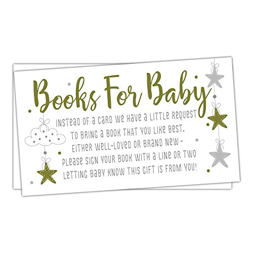 50 Twinkle Little Star Books for Baby Shower Request Cards - Invitation -