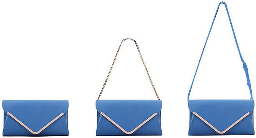KELUOSI Damen Clutch PU-Leder Abendtasche Umh/ängetasche Damentasche Handgelenktasche