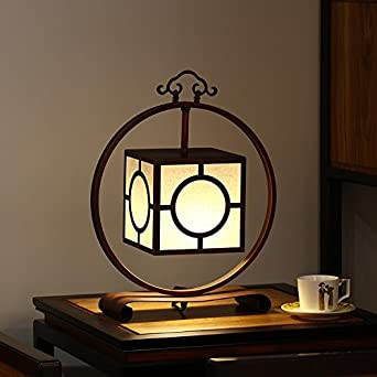 Nouveau Vinteen Moderne Fer Style Lampe Table Chinois Art Simple LA34Rj5
