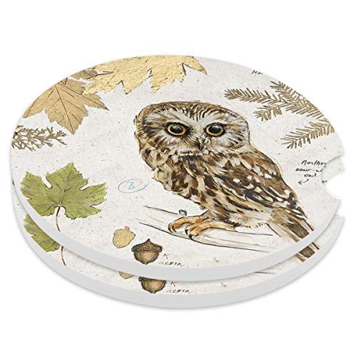 Absorbent Stoneware Car Coaster,Ceramic Auto Cupholder Coasters,Set of 2 Stone Coasters for Drinks Absorbent (21)