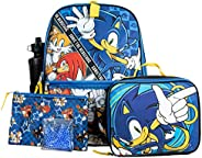 Kids Sonic 5 PC Backpack and Lunch Set