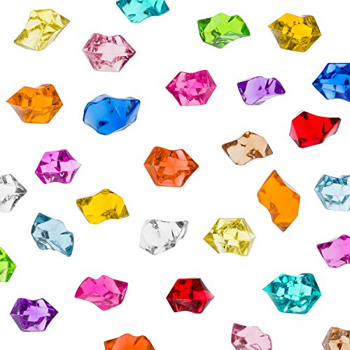 Acrylic Color Ice Rock Crystals Treasure Gems for Table Scatters, Vase Fillers, Event, Wedding, Arts & Crafts, Birthday Decoration Favor (190 Pieces) by Super Z Outlet (Assorted)