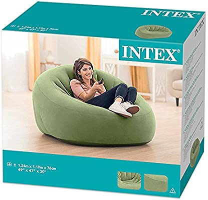 Amazon.com: Intex 68576 - Sillón hinchable sin mangas, 48.8 ...