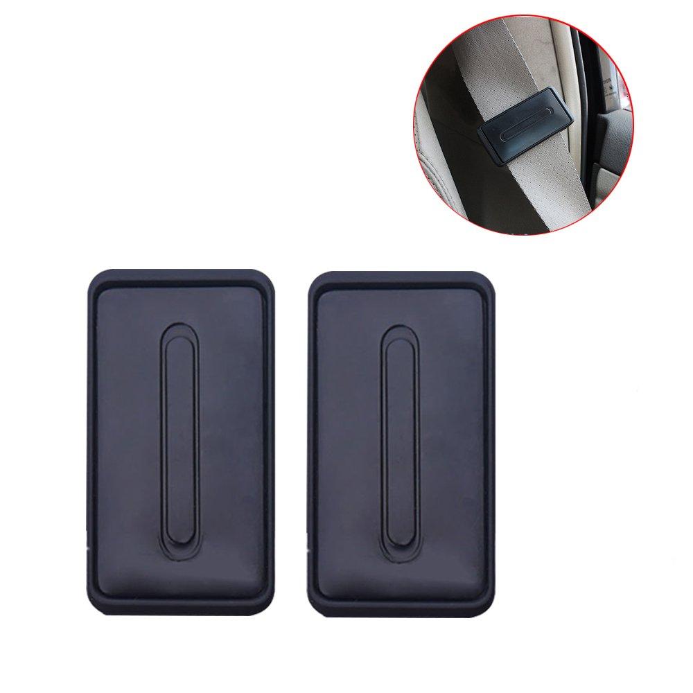 WANYI 2 Pezzi Seat Belt Clip, Blocca Cintura Sicurezza Auto Rilassa spalla/collo per un'esperienza di guida confortevole e sicura (Nero) Blocca Cintura Sicurezza Auto Rilassa spalla/collo per un' esperienza di guida confortevole e sicura (Nero)