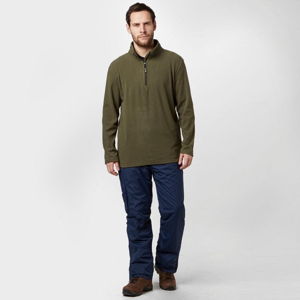 S Peter Storm Mens Ullswater Half Zip Fleece Green
