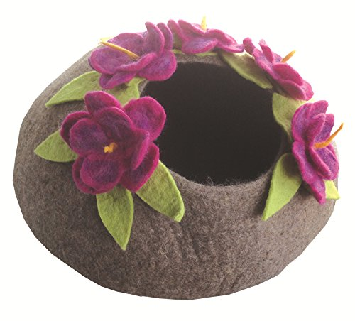 Eco-Cat Cave Deluxe, 100% All Natural Felted Wool, 20