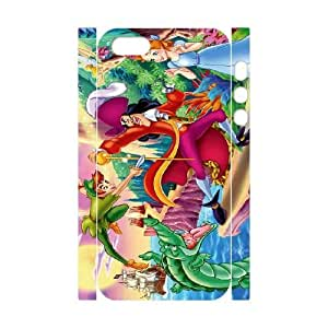 Protection Cover iphone5 5S 3D Cell Phone Case White Kiurm Peter Pan Personalized Durable Cases
