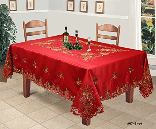 Creative Linens Holiday Christmas Tablecloth 70x140