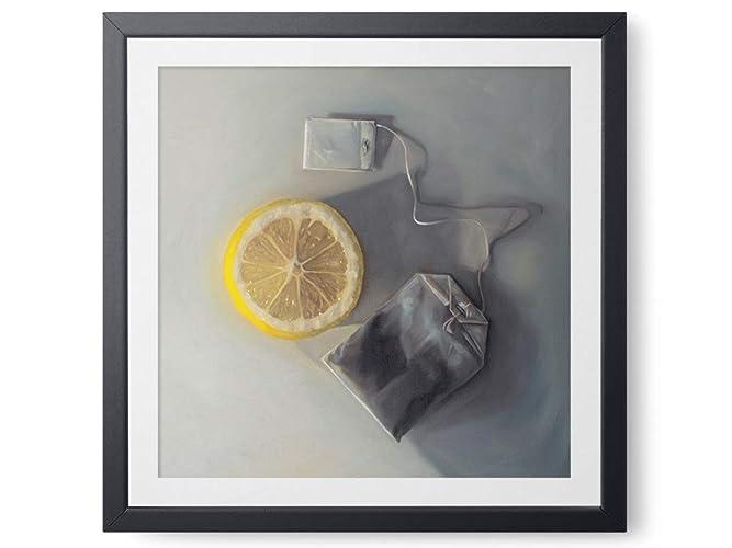 Amazon Com Lemon Slice And Tea Bag Oil Painting Giclee