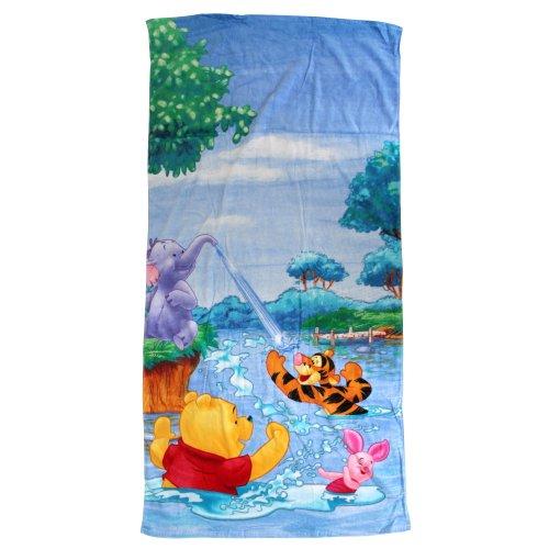 Childrens/Kids Disney Winnie The Pooh Printed Beach/Bath Towel (30 x 60 inch) (Blue)
