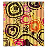 Modern Abstract Colorful Cute Diamnods Pattern In Yellow Shower Curtain 66