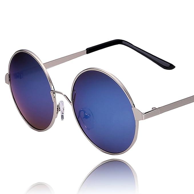 Gafas de sol marco redondo de metal/Carita decorativa gafas ...