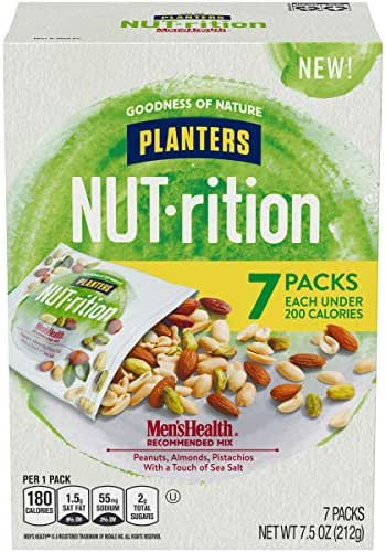 Planters Mixed Nuts, Men's Health Mix, 7.5 Ounce (Pack of 1)