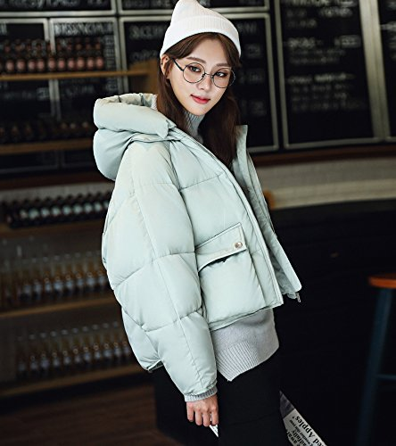Sweater light S Loose Jacket 'S Cotton Cotton Jacket Women Loose Paragraph Xuanku Women' green Short Winter 6awAwqz