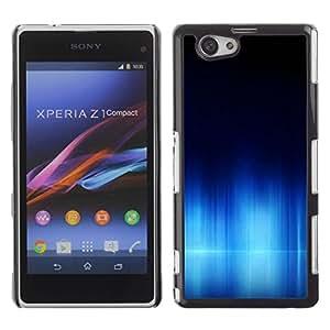 Be Good Phone Accessory // Dura Cáscara cubierta Protectora Caso Carcasa Funda de Protección para Sony Xperia Z1 Compact D5503 // Aurora Arctic Water Sinter Sea Polar Dark