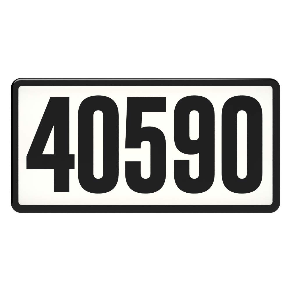 Westek Address Light - Lighted Address Sign with Number Stickers - Lighted Address Signs for Houses Assist Property Identification, 150 Foot Visibility - Easy to Install Via Doorbell, Weather-Proof