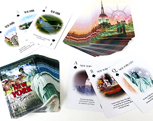 Shopitivity LLC New York, Souvenir, Statue of Liberty, Playing Card, Double Deck (Best Nyc Gift Cards)