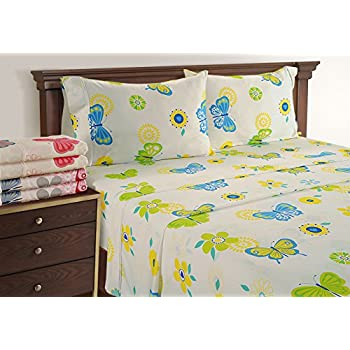 Butterfly Sheets   Ideal Teen Bed Sheets   300 Thread Count King Sheets  Deep Pockets