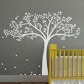 Einfarbige Fall Tree Extended Mauer Aufkleber Tree Wandaufkleber Vinyl Baum  Aufkleber Kinderzimmer Art Wand Dekoration,